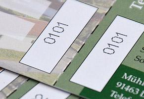 Eintrittskarte, nummeriert und perforiert